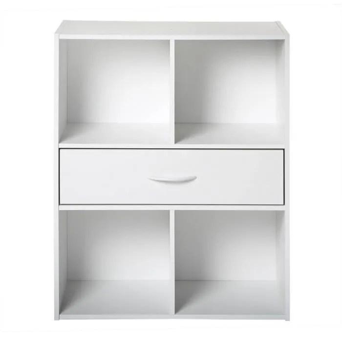 compo meuble de rangement contemporain blanc l 62 cm