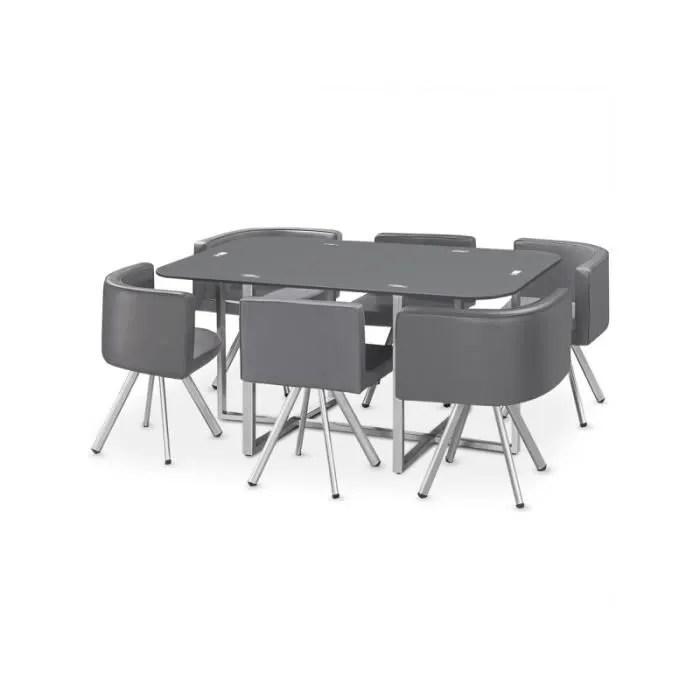 ensemble table de repas 6 chaises design