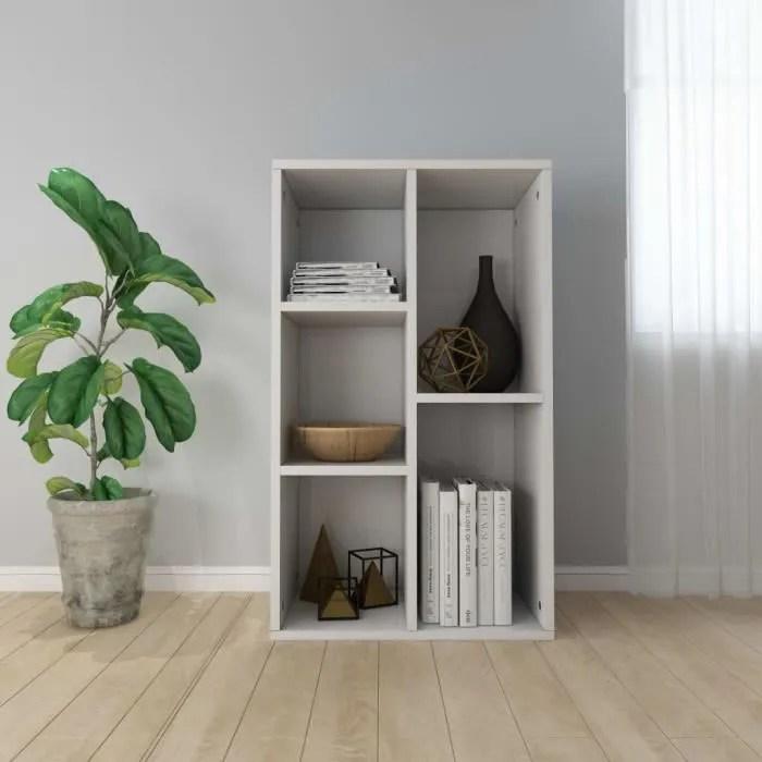 bibliotheque armoire buffet bas contemporain scandinave meuble armoire de rangement cuisine blanc brillant 45 x 25 x 80 cm
