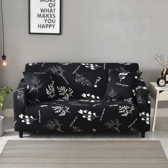 190 230cm housse de canape 3 places avec accoudoirs housse de fauteuil et canape extensible couverture de canape 3 places noir