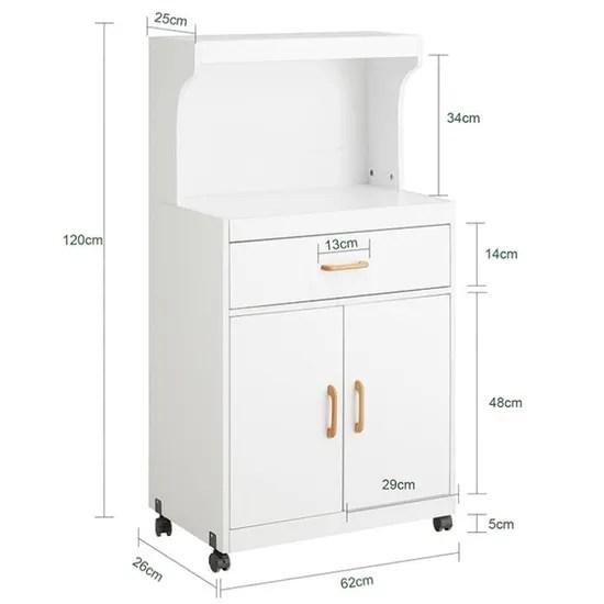 sobuy fsb12 w desserte micro onde a roulettes meuble de rangement cuisine etagere micro onde
