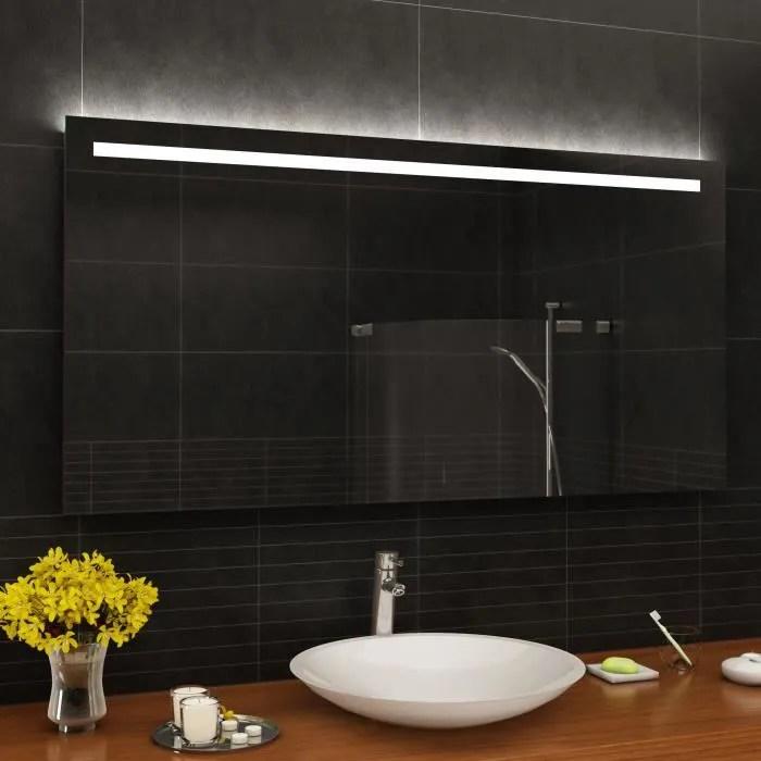 artforma l12 100x100 cm illumination led miroir sur mesure eclairage salle de bain