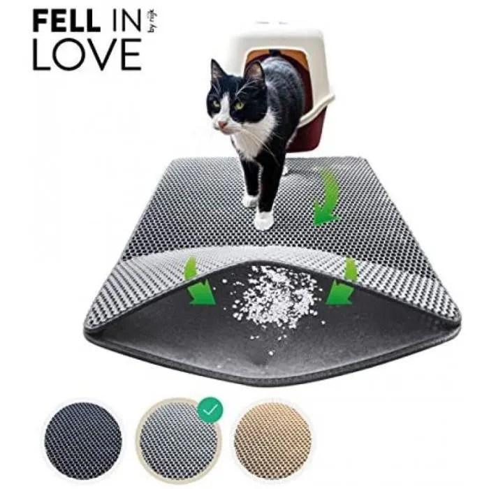 tapis de litiere pour chat pour le bac a litiere