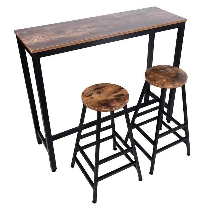 lot table et chaises de bar table haute