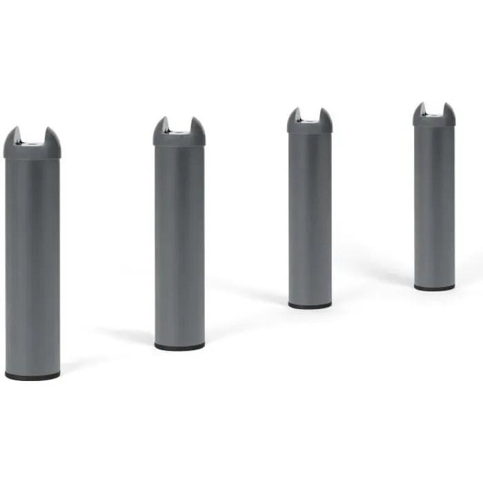 4 Pieds Metal H 28 Cm Pour Sommier Metal Cdiscount Maison