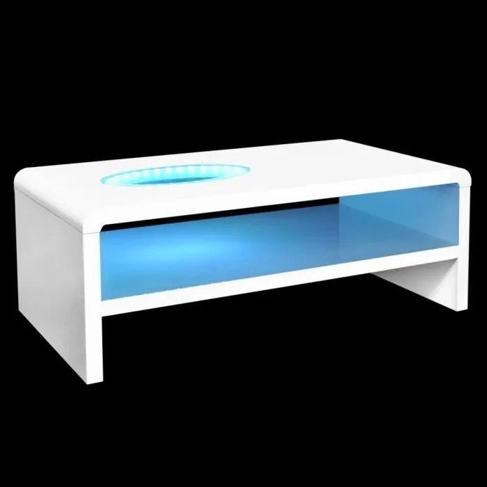 tables basses table basse led blanc