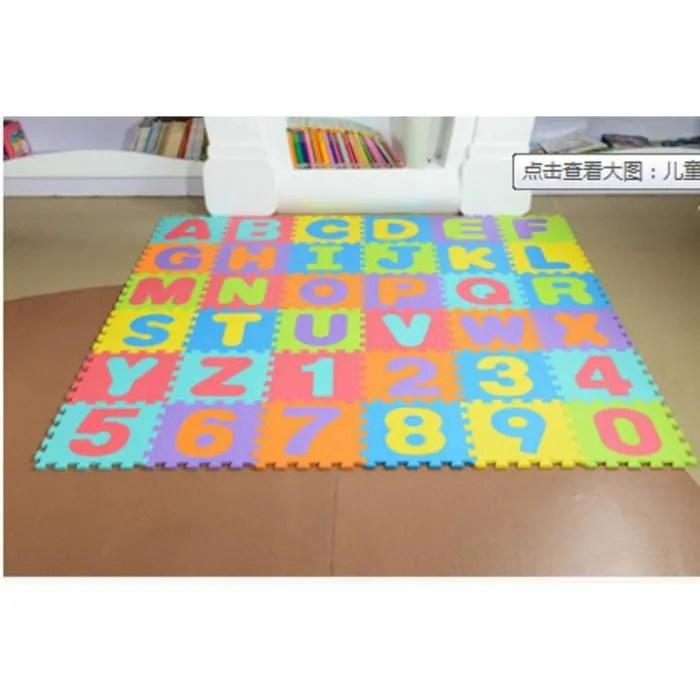 puzzle tapis mousse alphabet numero jouet ed