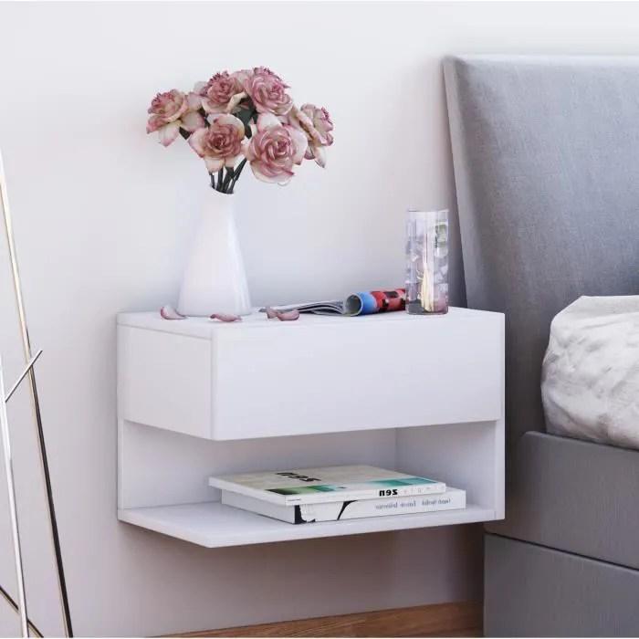 mural table de chevet dormal blanc
