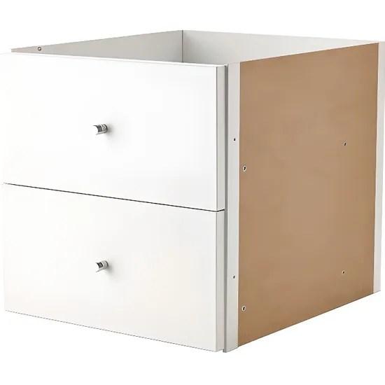 ikea kallax inserez avec 2 tiroirs blanc 33x33 cm