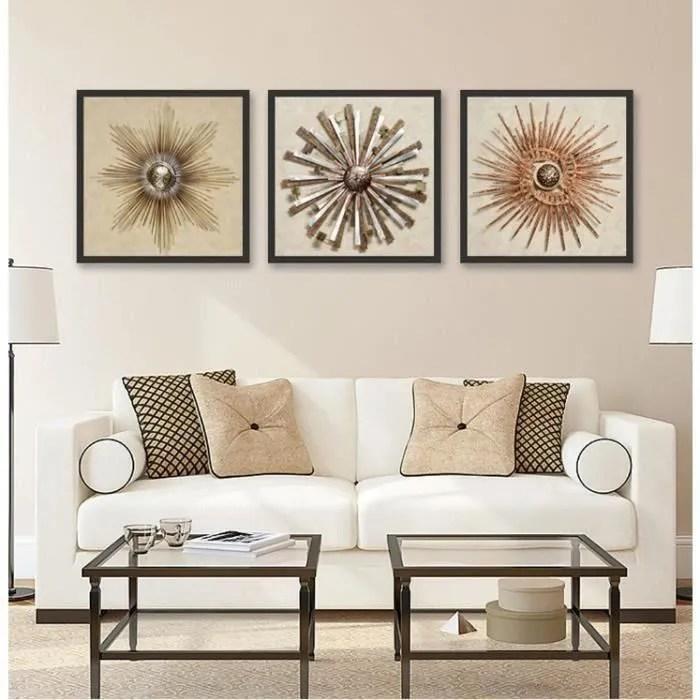 Creative Fer Forge Abstraite Fleur Peintures Decoratives Modulaire Image Wall Art Toile Peinture Pour Salon Non Encadree Cdiscount Maison