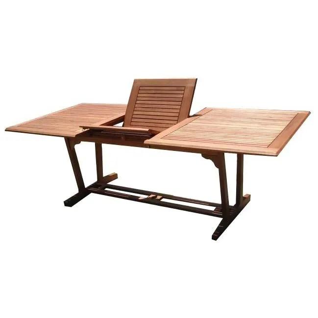 table de jardin avec rallonge en shorea