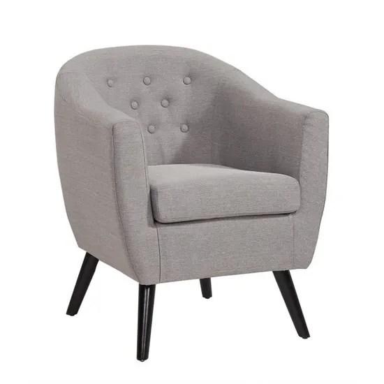 fauteuil scandinave en tissu gris jenna