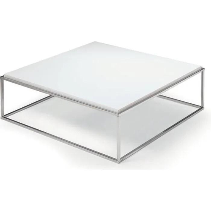 table basse carree mimi xl blanc mat