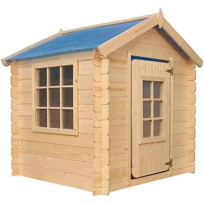 cabane en bois timbela m570 pour enfant maison d