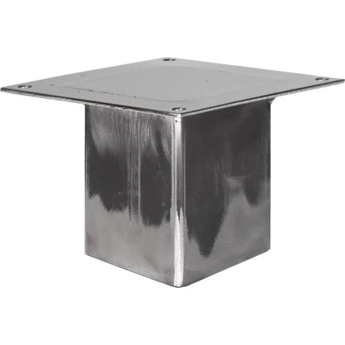 holzbrink 20cm 1x pied de table profil carre 80x80