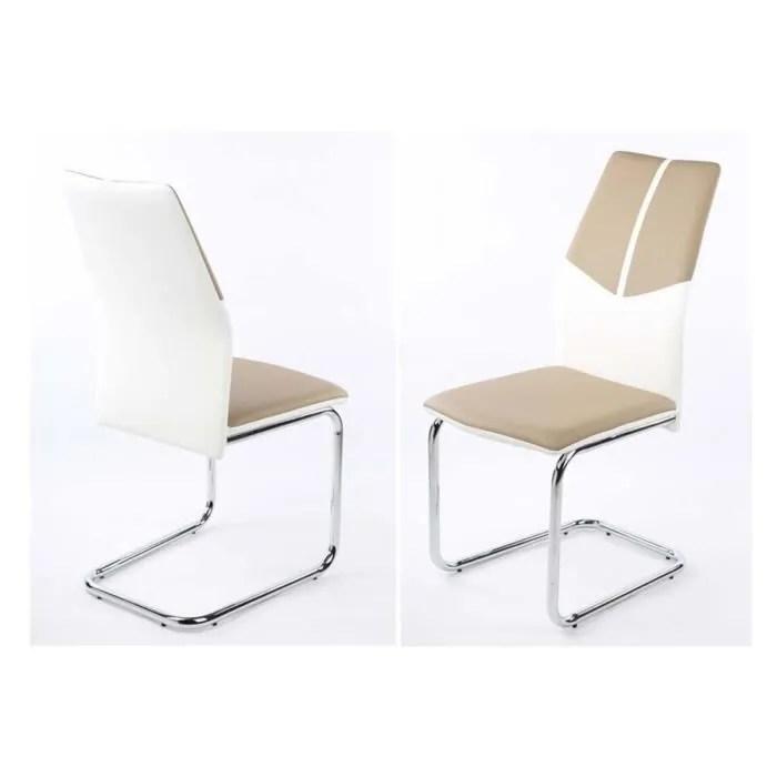 chaise design oceanik par 2 taupe