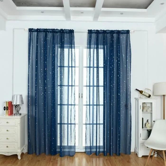 rideau linge bleu