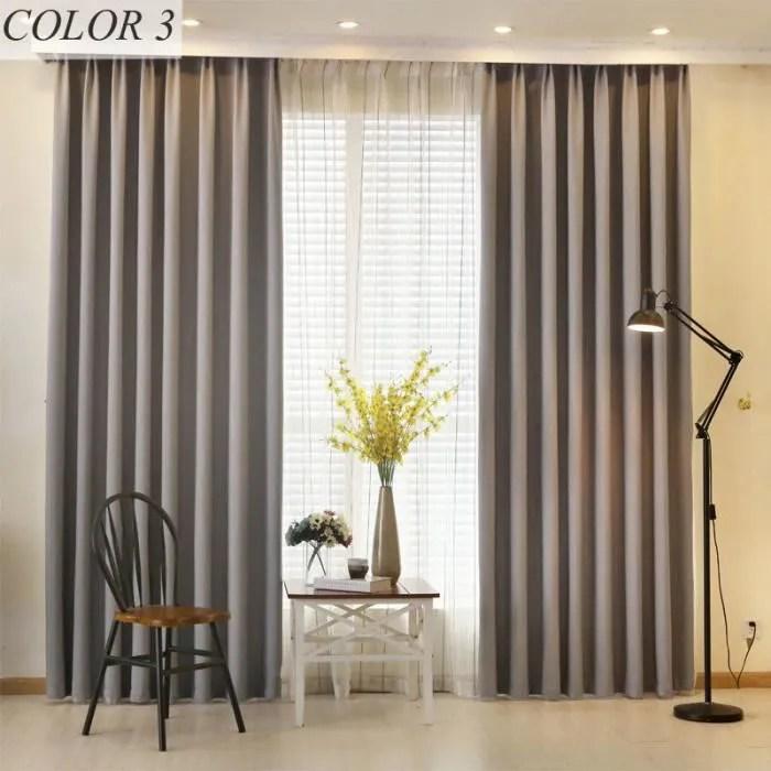 double rideaux occultants 145x240cm gris chambre s
