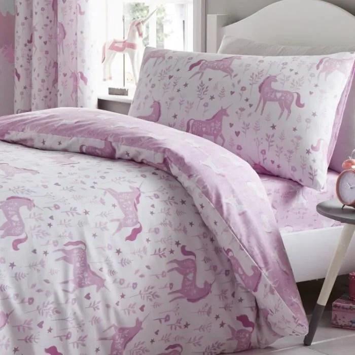 catherine lansfield parure de lit pour enfant fille garcon licorne lit enfant uk