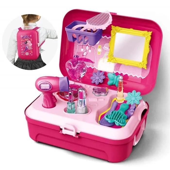 jouet fille 3 ans jouets make up kit pretend princesse set jouets avec sac a dos 16pcs pour enfants fille 2 3 ans