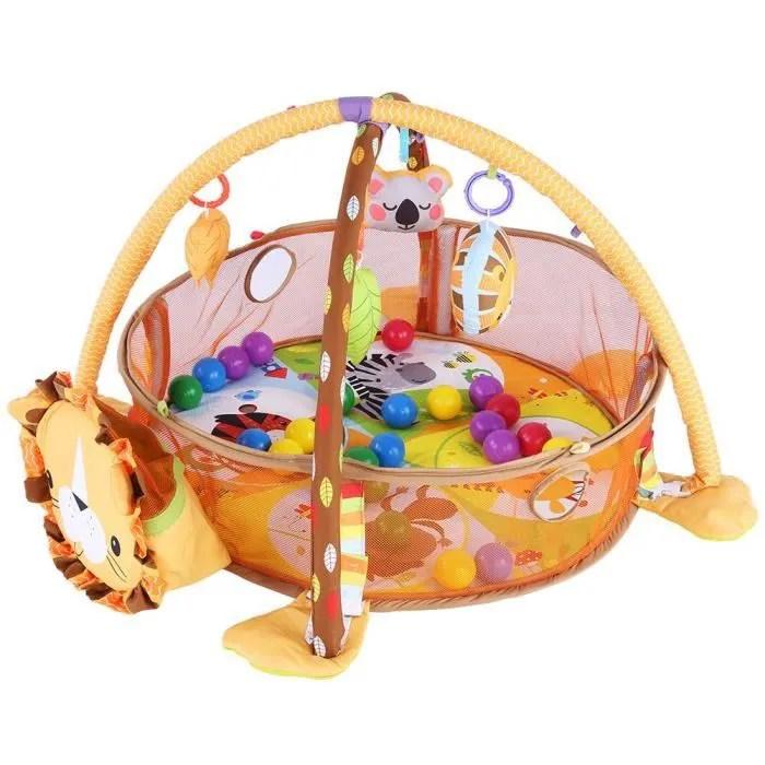 tapis de jeux eveil pour bebe motif animaux lion