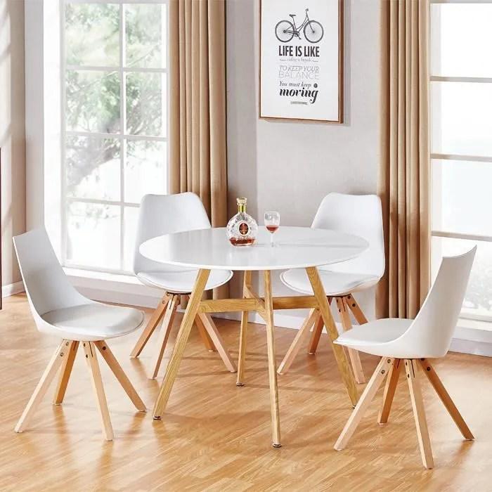 table a manger ronde scandinave en bois 100cm umbria designetsamaison