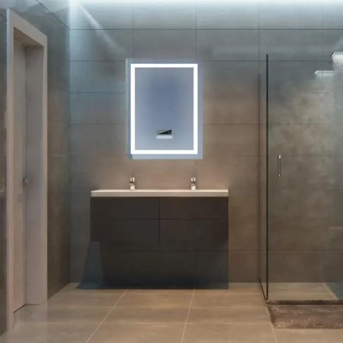 Miss Miroir Mural Salle De Bains Avec Eclairage Led 24 W Lumineux Reglable Anti Buee Avec Bluetooth 60 80 Cm Achat Vente Miroir Salle De Bain Soldes Sur Cdiscount Des Le 20 Janvier Cdiscount