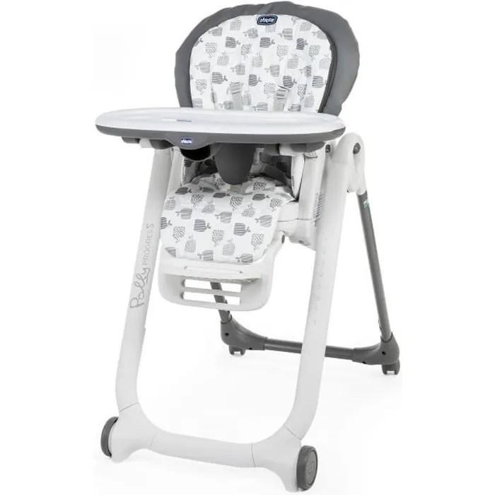 chaise haute polly progres5 4r grey