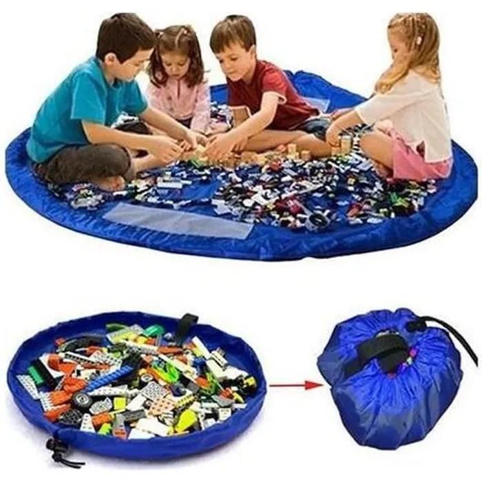 bleu profond grands enfants portables sac de range