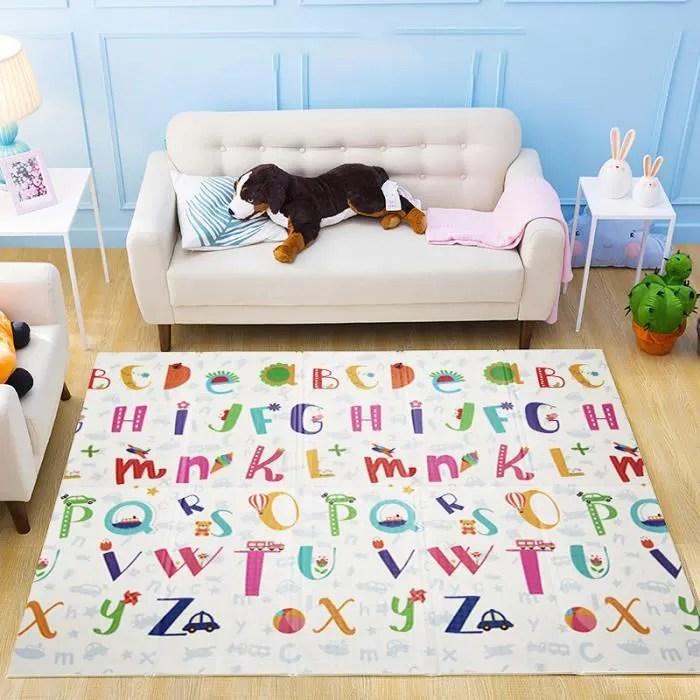 tapis de jeu pour bebe 180x200x1cm tapis de sol en