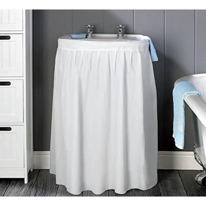 meuble salle de bain avec rideau