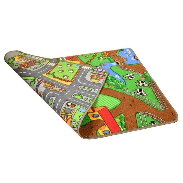 tapis de jeu reversible pour enfant circuit de v