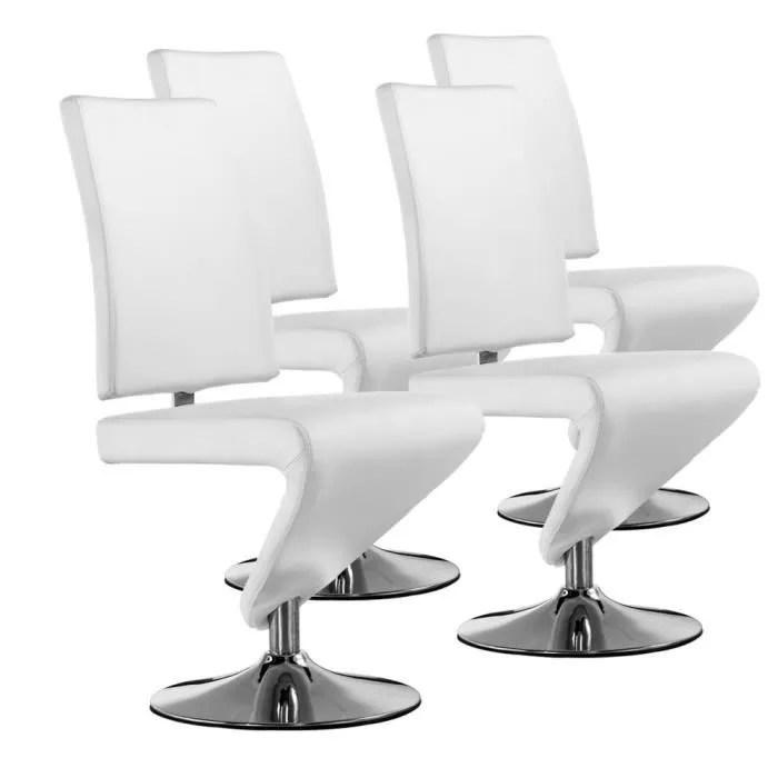 lot de 4 chaises twist blanc achat