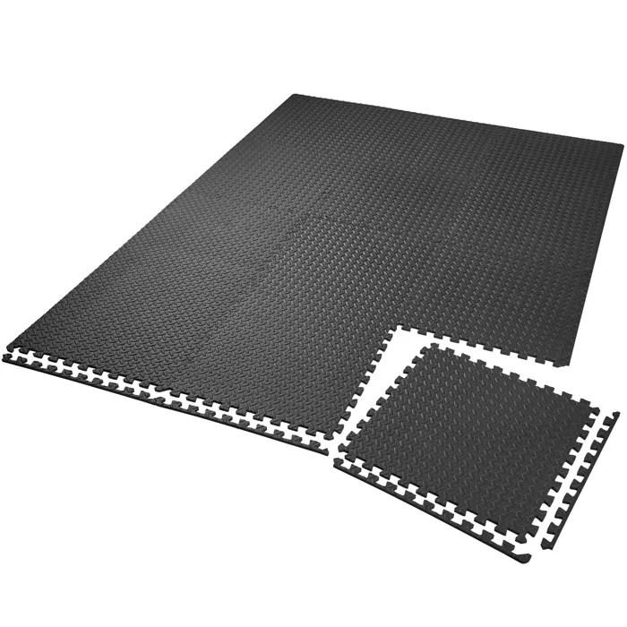 tectake tapis de sol de gym sport avec 12 dalles d