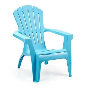 fauteuils plastique turquoise dolomite
