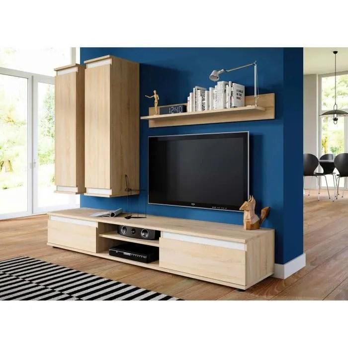 meuble tv et de salon suspendu design frene