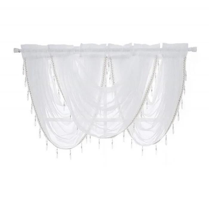1pc rideau romain transparent rideau voilage pour