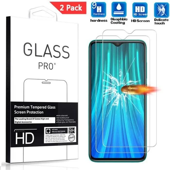2 pack verre trempe xiaomi redmi note 8 pro 6 53 film de protection d ecran
