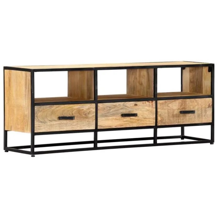 meuble tv industriel vintage 3 tiroirs