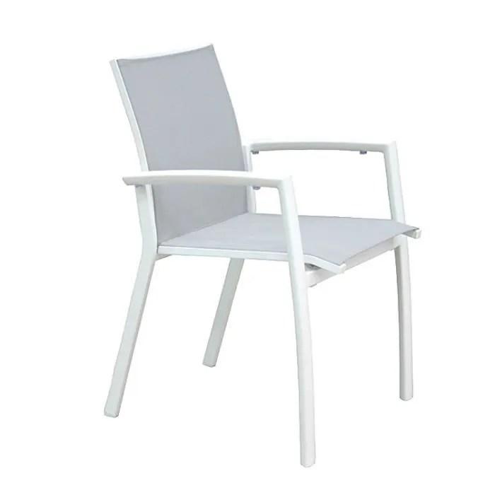 fauteuil jardin chaise en alu blanc