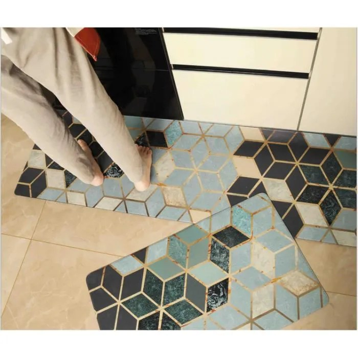 1pc tapis cuisine antiderapant lavable vinyle ant