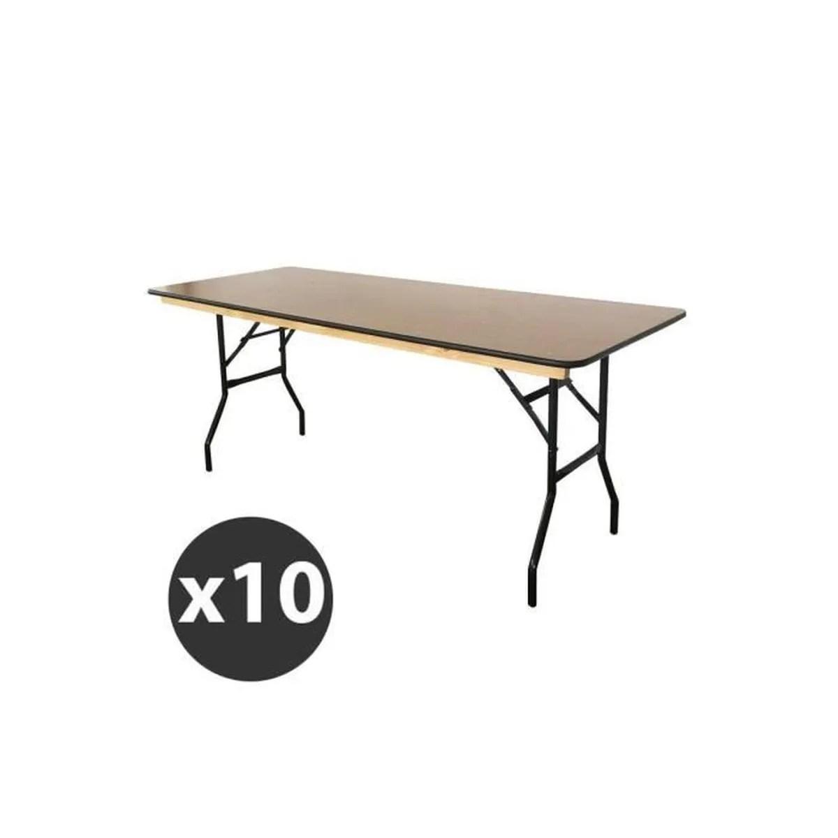 table pliante en bois 180 cm lot de