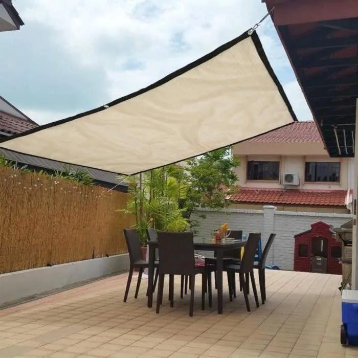 1x1 8m toile solaire voile d ombrage rectangulaire