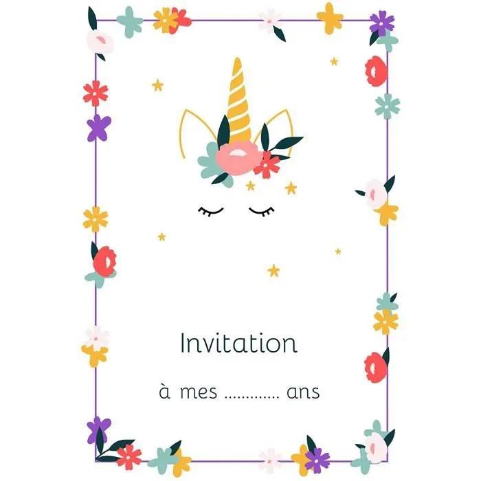 invitations de fete popcarte 16 cartes d invitatio
