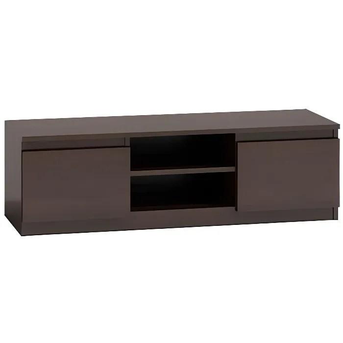 meuble tv moderne pour salon 120 cm 40 wenge
