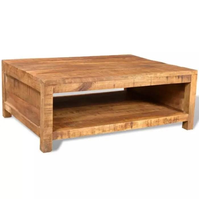 table basse bois massif de manguier
