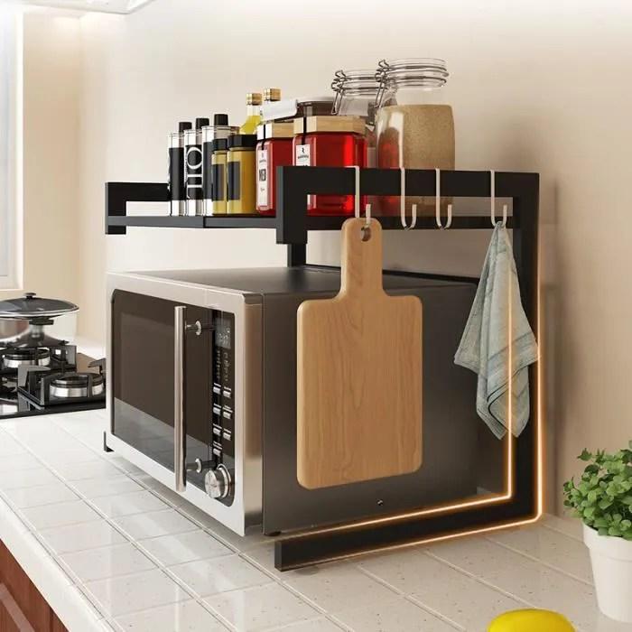 etagere micro onde support extensible en metal four a micro ondes de fourniture vaisselle economiseur d espace organisateur