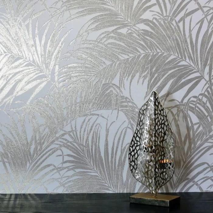 papier peint motif de feuilles des