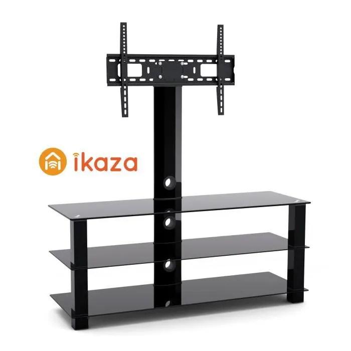 ikaza meuble tv colonne 3 plateaux avec