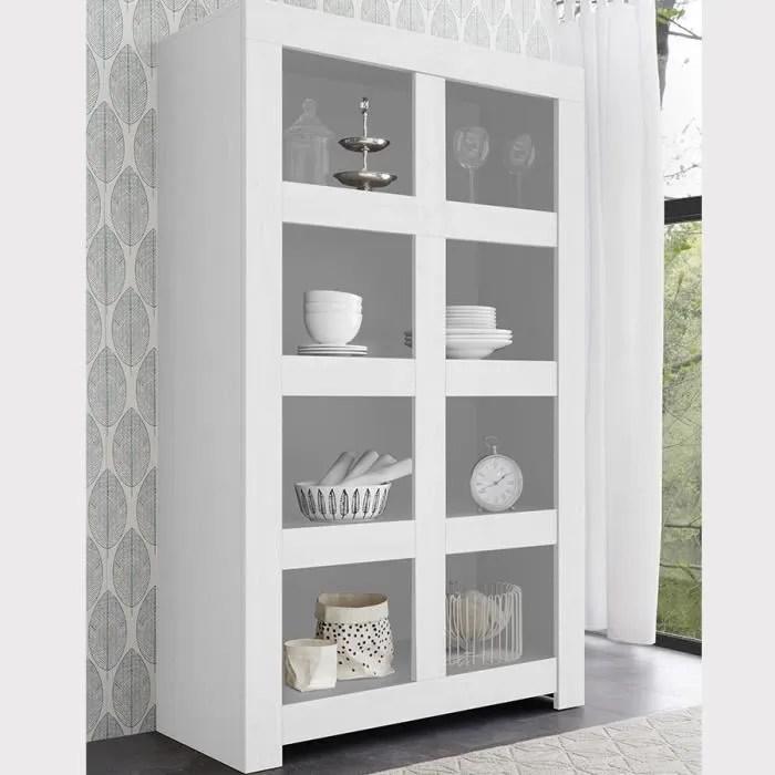 bibliotheque 110 cm design blanc laque agathe l 110 x p 43 x h 191 cm blanc